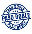 paso doble blue round grunge stamp vector image vector image