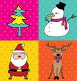 pop art christmas elements vector image vector image