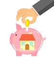 saving for a house vector image vector image