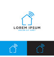 smart home logo design template vector image