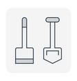 soil excavation icon vector image vector image