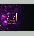 sparkling 2021 happy new year beautiful vector image