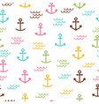 summer sea seamless pattern with anchors cute vector image vector image
