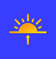 sunrise weather forecast info icon sun and arrow vector image