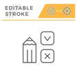 survey editable stroke line icon vector image