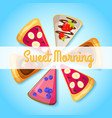 sweet breakfast template vector image vector image