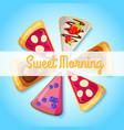 sweet breakfast template vector image
