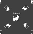 Taurus sign Seamless pattern on a gray background vector image vector image
