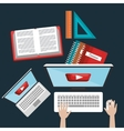 technology online education reading e-learning vector image