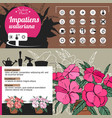 Template for indoor plant impatiens tipical vector image