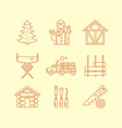 Timber Industry Icons vector image vector image