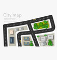 top view city of map vector image vector image