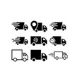 truck icon design template graphic vector image