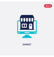 two color market icon from digital economy vector image