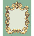 vintage frame with copy space for text vector image vector image