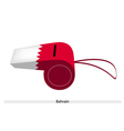 White and Red Color of Bahrain Whistle vector image vector image