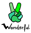 wonderful symbol vector image