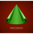 Christmas tree from scroll paper vector image