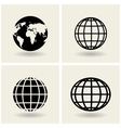 icons globes vector image