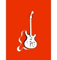Classical electro guitar vector image