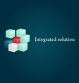 Conceptual image of integrated solution vector image