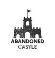 abandoned castle logo icon design template vector image
