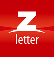 Abstract logo letter Z on a red background vector image vector image