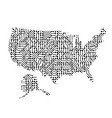 abstract schematic map of united states of vector image vector image