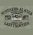 alaska north slope last frontier adventure vector image vector image