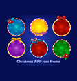 background for app icons christmas set new vector image
