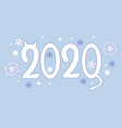 banner for new year 2020 with cats vector image