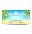 banner of sand beach at sunset time vector image vector image