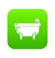 bathtub icon green vector image