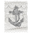 black and white of an anchor vector image vector image