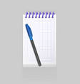 blank spiral notepad notebook with realistic vector image vector image