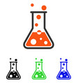 boiling liquid flat icon vector image vector image