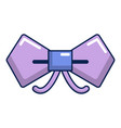 bow tie hipster icon cartoon style vector image vector image