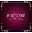 business logo new creative silver floral design vector image