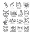 business management line icons pack 43 vector image vector image