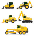 car equipment for construction work vector image