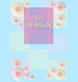 card flowers pastel colors of the rectangles vector image