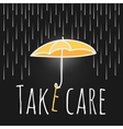 care support open umbrella rain vector image vector image