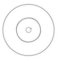 circular saw blade black icon in circle isolated vector image vector image