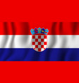 croatia realistic waving flag national country vector image vector image