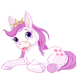 Cute horse princess resting vector image vector image