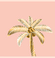 decorative rosy and gold color tropical palm vector image vector image