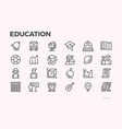 education icons school curriculum and equipment vector image