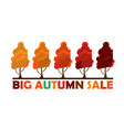 fall sale design big autumn sale vector image