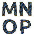 Farmerke tekstura MNOP resize vector image vector image