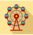 ferris wheel icon flat style vector image